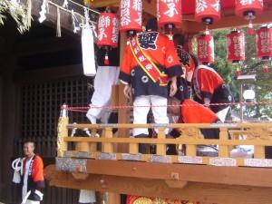 獅子檀尻 宮入 @ 魚吹八幡神社 | 姫路市 | 兵庫県 | 日本